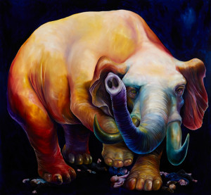 Elephant oil on canvas jpg
