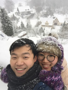 Song und Hee in Hohenstein-Winterwonderland